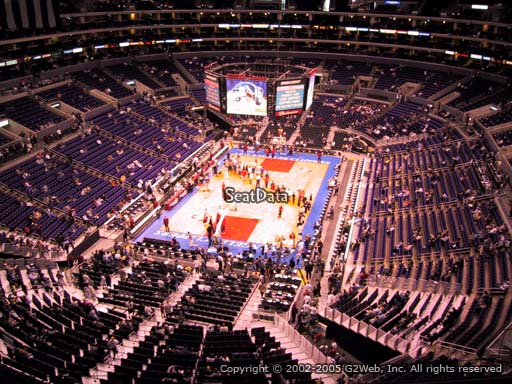 Seat view from section 325 at the Staples Center, home of the Los Angeles Clippers