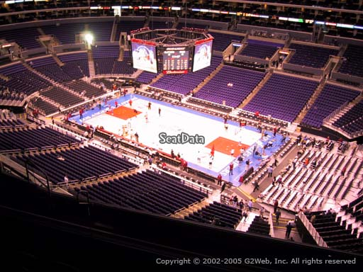Seat view from section 332 at the Staples Center, home of the Los Angeles Clippers