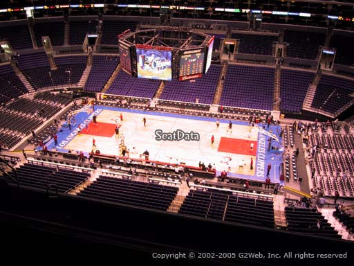 Seat view from section 334 at the Staples Center, home of the Los Angeles Clippers
