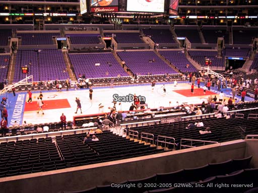 Seat view from premier section 6 at the Staples Center, home of the Los Angeles Clippers