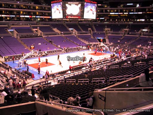 Seat view from premier section 8 at the Staples Center, home of the Los Angeles Clippers