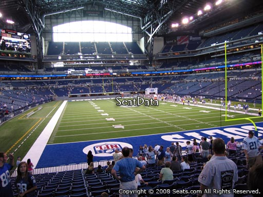 Seat view from section 102 at Lucas Oil Stadium, home of the Indianapolis Colts