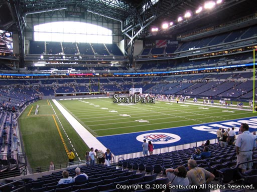 Seat view from section 103 at Lucas Oil Stadium, home of the Indianapolis Colts