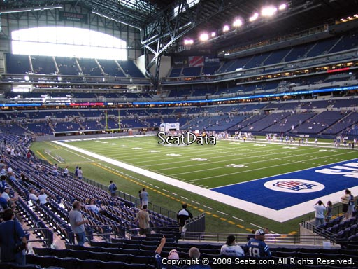 Seat view from section 105 at Lucas Oil Stadium, home of the Indianapolis Colts