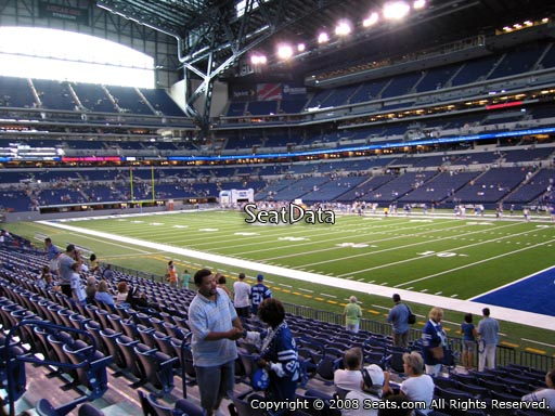Seat view from section 108 at Lucas Oil Stadium, home of the Indianapolis Colts