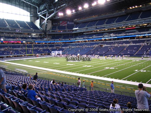 Seat view from section 109 at Lucas Oil Stadium, home of the Indianapolis Colts