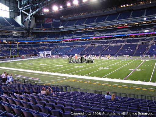 Seat view from section 110 at Lucas Oil Stadium, home of the Indianapolis Colts