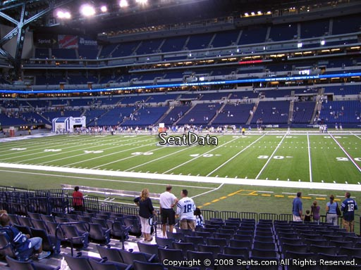 Seat view from section 111 at Lucas Oil Stadium, home of the Indianapolis Colts