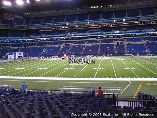 Seat view from section 112 at Lucas Oil Stadium, home of the Indianapolis Colts