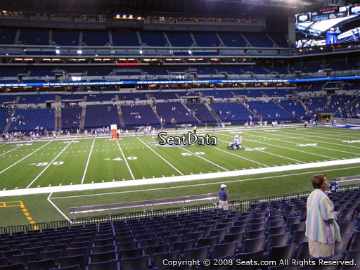 Seat view from section 114 at Lucas Oil Stadium, home of the Indianapolis Colts