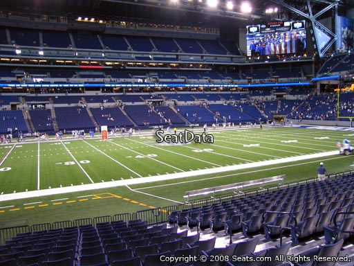 Seat view from section 115 at Lucas Oil Stadium, home of the Indianapolis Colts