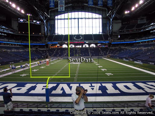Seat view from section 126 at Lucas Oil Stadium, home of the Indianapolis Colts