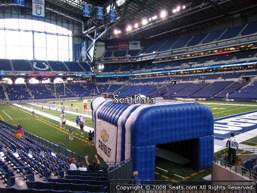 Section 132 at Lucas Oil Stadium