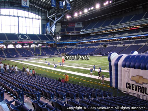 Seat view from section 135 at Lucas Oil Stadium, home of the Indianapolis Colts