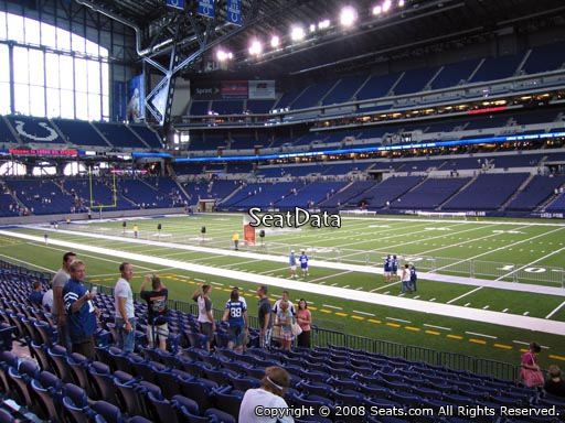 Seat view from section 136 at Lucas Oil Stadium, home of the Indianapolis Colts