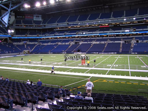 Seat view from section 138 at Lucas Oil Stadium, home of the Indianapolis Colts