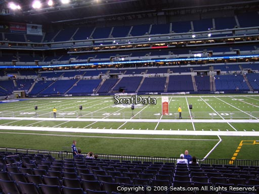 Seat view from section 139 at Lucas Oil Stadium, home of the Indianapolis Colts
