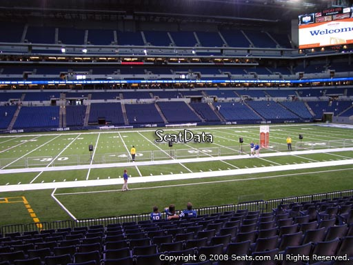 Seat view from section 141 at Lucas Oil Stadium, home of the Indianapolis Colts