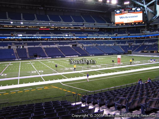 Seat view from section 142 at Lucas Oil Stadium, home of the Indianapolis Colts
