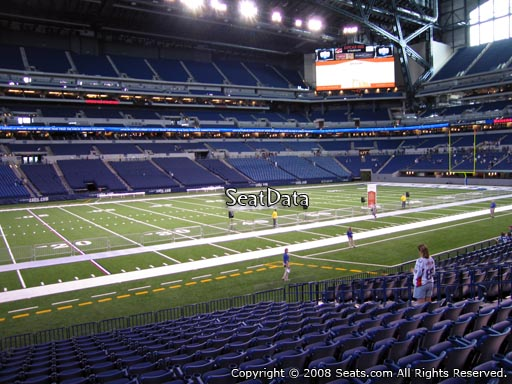 Seat view from section 143 at Lucas Oil Stadium, home of the Indianapolis Colts