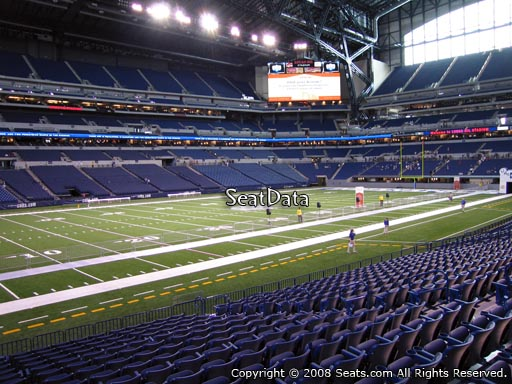 Seat view from section 144 at Lucas Oil Stadium, home of the Indianapolis Colts
