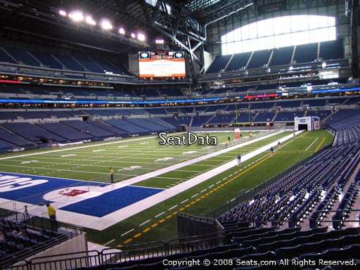 Seat view from section 148 at Lucas Oil Stadium, home of the Indianapolis Colts