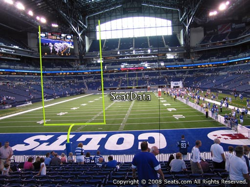 Seat view from section 153 at Lucas Oil Stadium, home of the Indianapolis Colts