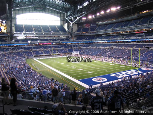 Section 204 at Lucas Oil Stadium
