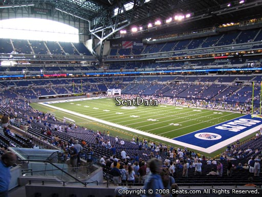 Seat view from section 206 at Lucas Oil Stadium, home of the Indianapolis Colts