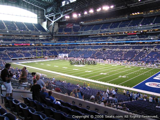 Seat view from section 208 at Lucas Oil Stadium, home of the Indianapolis Colts