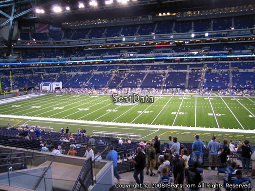 Seat view from section 211 at Lucas Oil Stadium, home of the Indianapolis Colts