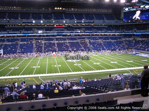Seat view from section 214 at Lucas Oil Stadium, home of the Indianapolis Colts