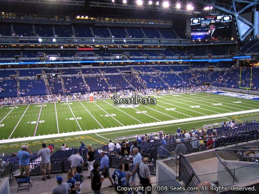 Seat view from section 215 at Lucas Oil Stadium, home of the Indianapolis Colts