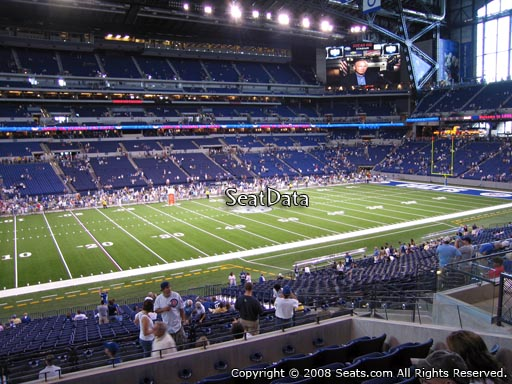 Seat view from section 216 at Lucas Oil Stadium, home of the Indianapolis Colts