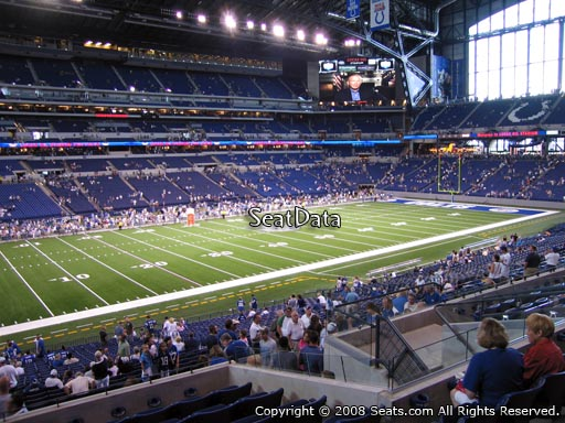 Seat view from section 217 at Lucas Oil Stadium, home of the Indianapolis Colts
