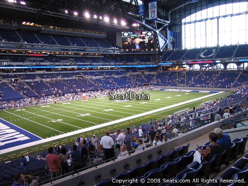 Seat view from section 218 at Lucas Oil Stadium, home of the Indianapolis Colts