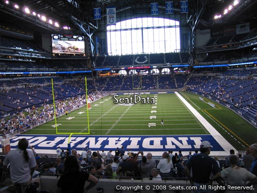 Seat view from section 225 at Lucas Oil Stadium, home of the Indianapolis Colts