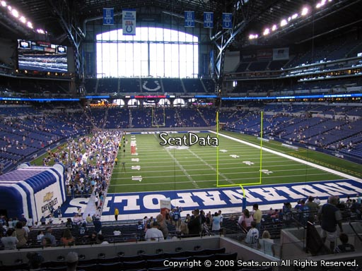 Seat view from section 228 at Lucas Oil Stadium, home of the Indianapolis Colts