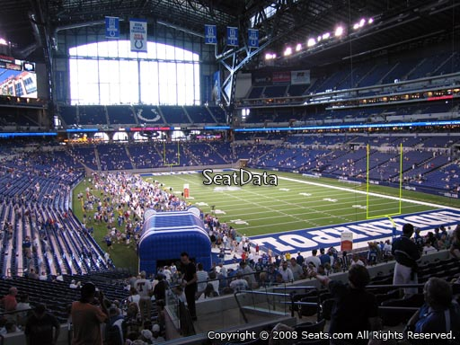 Seat view from section 230 at Lucas Oil Stadium, home of the Indianapolis Colts