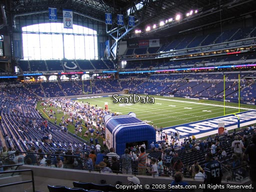 Seat view from section 231 at Lucas Oil Stadium, home of the Indianapolis Colts