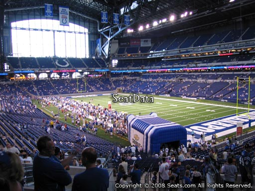Seat view from section 232 at Lucas Oil Stadium, home of the Indianapolis Colts
