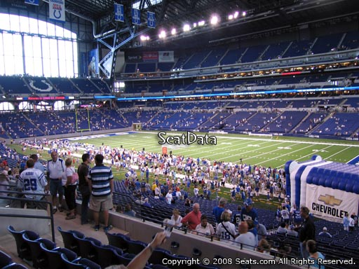 Seat view from section 235 at Lucas Oil Stadium, home of the Indianapolis Colts