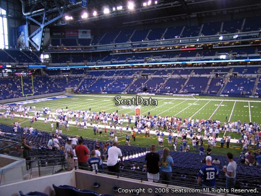 Seat view from section 237 at Lucas Oil Stadium, home of the Indianapolis Colts