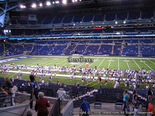Seat view from section 238 at Lucas Oil Stadium, home of the Indianapolis Colts