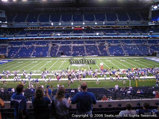 Seat view from section 240 at Lucas Oil Stadium, home of the Indianapolis Colts