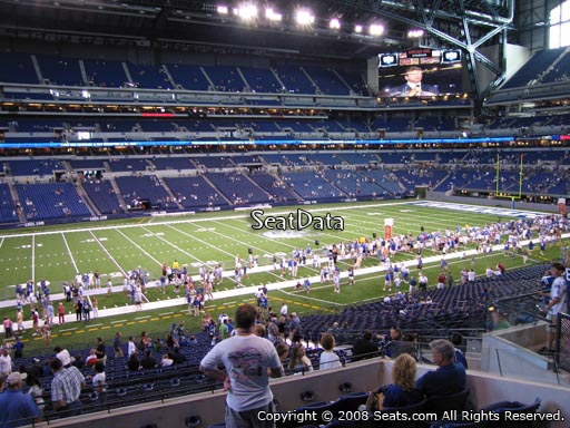 Seat view from section 243 at Lucas Oil Stadium, home of the Indianapolis Colts