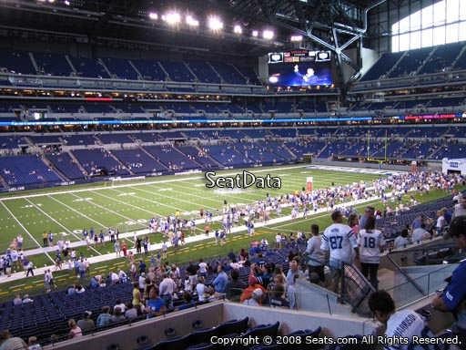 Seat view from section 244 at Lucas Oil Stadium, home of the Indianapolis Colts