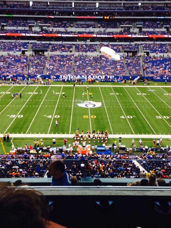 View from the Club Seats at Lucas Oil Stadium