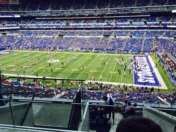 View from the Loge Seats at Lucas Oil Stadium