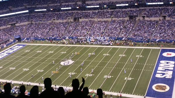 View from the Terrace Level seats at Lucas Oil Stadium